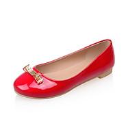 Γυναικεία παπούτσια-Μπαλαρίνες-Ύπαιθρος / Γραφείο & Δουλειά / Φόρεμα-Επίπεδο Τακούνι-Ανατομικό / Στρογγυλή Μύτη-PU-Μαύρο / Κόκκινο / Άσπρο