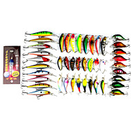 0.344kg/Set 44Pcs Bass Lures Bait Ensemble Bait Lures Hard Bait Fish lamp Mixed Lures Set