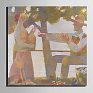 Handgeschilderde Mensen Olie schilderijen,Modern / Europese Stijl Eén paneel Canvas Hang-geschilderd olieverfschilderij For Huisdecoratie
