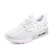 Sko-Tekstil / PU-Flat hæl-Komfort / Lukket tå-Flate sko-Friluft / Fritid / Sport-Svart / Hvit / Marineblå