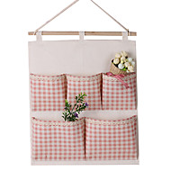 Multi-layer Cotton Hanging Storage Bags(Random Color)