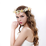 Women's Polyester / Fabric Headpiece-Wedding / Special Occasion Handmade Beads Flowers Birdal Wreaths 1 Piece