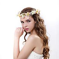 Dame Polyester / Stoff Headpiece-Bryllup / Spesiell Leilighet / Utendørs Kranser 1 Deler Multi-farge Blomst 55-60cm