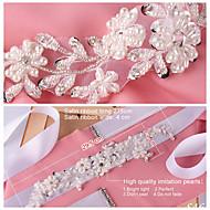 Satin Wedding / Party/ Evening / Dailywear Sash-Beading / Appliques / Pearls / Rhinestone Women's 98 ½in(250cm)Beading / Appliques /