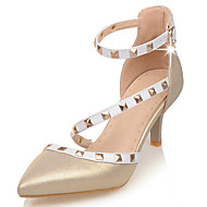 Women's Shoes  Stiletto Heel Heels / Pointed Toe / Open Toe Heels Wedding / Party & Evening / Dress White / Gold