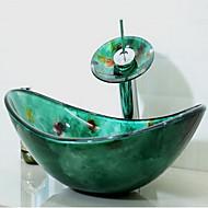 Zeitgenössisch 1.2*54*36*16.5 Rechteckig Sink Material ist HartglasWaschbecken für Badezimmer Armatur für Badezimmer Einbauring für