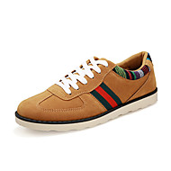 Men's Shoes Suede Outdoor / Casual Oxfords Outdoor / Casual Walking Flat Heel Lace-up Black / Blue / Khaki