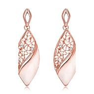 Boucles d'oreille goutte Zircon Plaqué or 18K or Mode Forme Ovale Or Rose Bijoux Mariage Soirée Quotidien Décontracté 1 paire