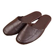M.livelihood.H® Men's Cowhide Slippers Tan-409