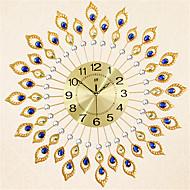 Rond Moderne/Contemporain Horloge murale,Autres Métal 70*70*7