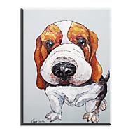מצויר ביד בעלי חיים ציורי שמן,ריאליסטי / ים- תיכוני / פסטורלי / סגנון ארופאי / סגנון / מודרני / קלאסי / מסורתי פנל אחד בדציור שמן