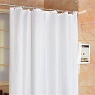 "Casual Solid Shower Curtains W71""×L71"""