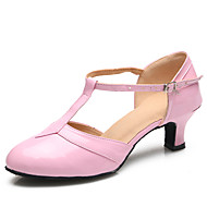 Women's Dance Shoes Patent Leather Patent Leather Latin / Modern Heels Stiletto Heel Practice / Indoor Pink