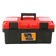 Thick Red Plastic Toolbox Multifunction Portable Home / Car (17-Inch)