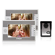TMAX® 7 Inch Color TFT LCD Video Door Phone with 420TVL Night Vision Camera (1Camera to 2Monitors)
