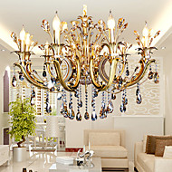 샹들리에 ,  컴템포러리 / 모던 기타 특색 for 크리스탈 촛불 스타일 금속 거실 침실 주방