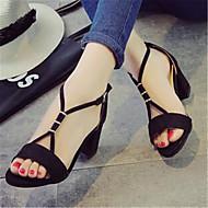 Women's Heels Summer Heels PU Casual Chunky Heel Others Black / Gray