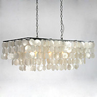Shell Rectangular Chandelier 30""