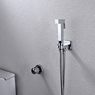 Contemporain Montage mural Thermostatique with  Soupape en laiton Mitigeur deux trous for  Chrome , Robinet Bidet
