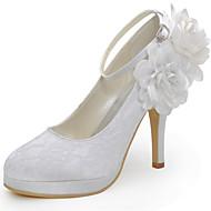בלרינה\עקבים-נשים-נעלי חתונה-עקבים / מעוגל-חתונה / שמלה / מסיבה וערב-אדום / לבן / בז'