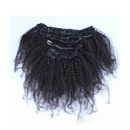 "10""-26""Filipino Afro Kinky Curly Filipino Hair 7pcs African American Clip In Human Real Hair Extensions"