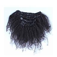 """10 """"-26"""" filipino afro verworrene lockige philippinischer Haar 7pcs afroamerikaner Clip in menschlichen Echthaarverlängerungen"""