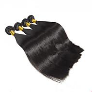 Cabelo Humano Ondulado Cabelo Malaio Retas 4 Peças tece cabelo