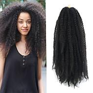 """블랙 17 """"kanekalon afro 변태 머리띠 꼬투리 havana 곱슬 머리카락 머리띠 100g"""