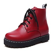 Støvler-Kunstlæder-Modestøvler-Dame-Sort Rød Hvid-Kontor Formelt Fritid-Platå