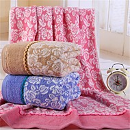 "1 Piece Full Cotton  Bath Towel 59"" by 39"" Floral Pattern Super Soft"