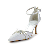 Women's Spring / Summer Heels / Pointed Toe / Ankle Strap Lace Wedding / Party & Evening / Dress Stiletto HeelSparkling Glitter /