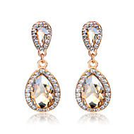 Champagne Exqusite Quality Silver AAA Zircon Crystal Drop Earrings for Lady Wedding Party