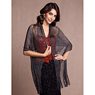 Women's Wrap Shawls Sleeveless Polyester More Colors