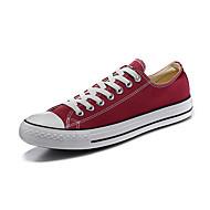 Chaussures Hommes-Extérieure / Décontracté / Sport-Noir / Rouge-Toile-Sneakers