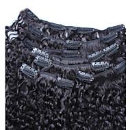 3b 3c perwersyjne kręcone klip w ludzkich włosów rozszerzeniach 7PCS peruvian perwersyjne kręcone włosy 6a spinki do włosów w naturalnych