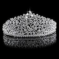 Mujer Diamantes Sintéticos / Aleación Celada-Boda Tiaras 1 Pieza Plata Redondo 15