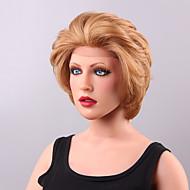 cabello humano del frente del cordón de pelo muy claro cómoda corta ondulada
