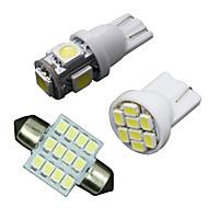 11ks bílé LED světla interiéru balíček pro T10&Mapa 31 milimetrů kopule + SPZ