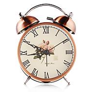 bronse vintage dobbel bjelle jern alarmklokke med stille klokke mekanisme og bakgrunnslys håndverk bord klokke hjem dekorasjon