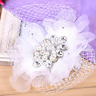 Women's Rhinestone / Tulle / Fabric / Net Headpiece-Wedding / Special Occasion Fascinators 1 Piece Clear