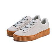 Kényelmes-Lapos Tipegők-Női cipő-Tornacipők-Szabadidős Alkalmi Sportos-Fordított bőr Tüll-Fekete Sárga Bézs