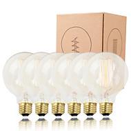 GMY 6pcs g95 edison lâmpada de filamento vertical, vintage lâmpada 40w e26 / e27 decorar lâmpada