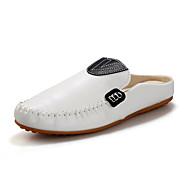 Kényelmes-Lapos-Női cipő-Papucsok & Balerinacipők-Alkalmi-Bőrutánzat-Kék Fehér Narancssárga
