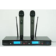 UHF Professional Doublue Metal handheld Wireless Microphone Wireless Karaoke Microphone