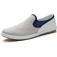 Herren-Loafers & Slip-Ons-Outddor-Leinwand-Flacher Absatz-Geschlossene Zehe-Blau / Grün / Grau