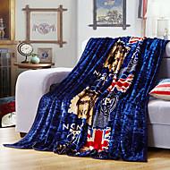 Flag Fleece fabric blanket summer comforter Air conditioning throw winter soft bedsheet