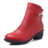 Sapatos de Dança(Preto / Marrom / Vermelho / Cinza) -Feminino-Não Personalizável-Moderna / Botas de dança