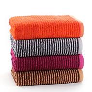 3 יח 'מגבת מלאת כותנה להגדיר דפוס פס רך במיוחד