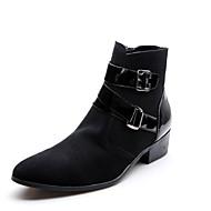 Kerek orrú-Lapos-Női cipő-Csizmák-Alkalmi-PU-Fekete