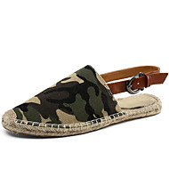 Γυναικεία παπούτσια-Παντόφλες & flip-flops-Καθημερινά-Επίπεδο Τακούνι-Στρογγυλή Μύτη / Παντόφλες-Λινό-Μπλε / Μπεζ / Πορτοκαλί / Χακί /